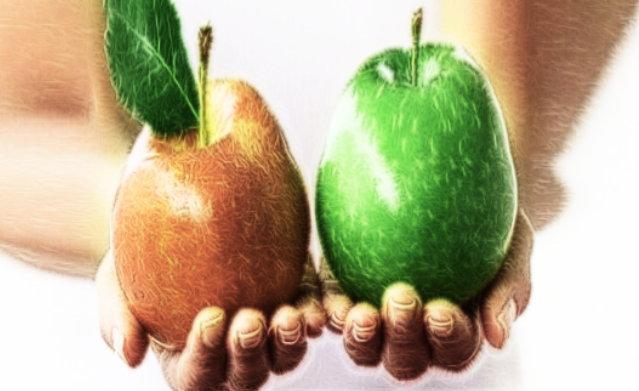 نجد في التفاح ثلاثه الوان الاحمر و الاخضر و الاصفر .  يعد الاصفر احلاها و الاخضر احمضها .  يمكن الاحتفاظ به لمدة طويلة في مكان خال من الرطوبه .  يؤكل كما هو او يعصر او يقدم كتحليه مطبوخ او حتى مربى.  فائدة كبيرة في قشره لذا ينصح بعدم تقشير التفاحة قبل اكلها .
