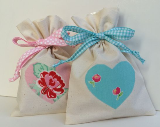 Make a simple drawstring sweet treat bag. Tutorial by The Lost Apron.