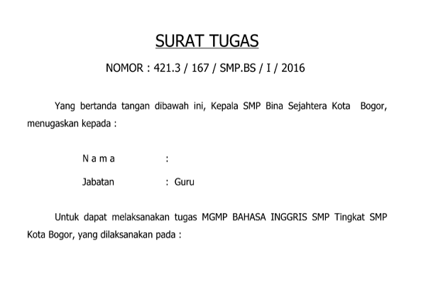Format Surat Tugas Gumus Northeastfitness Co