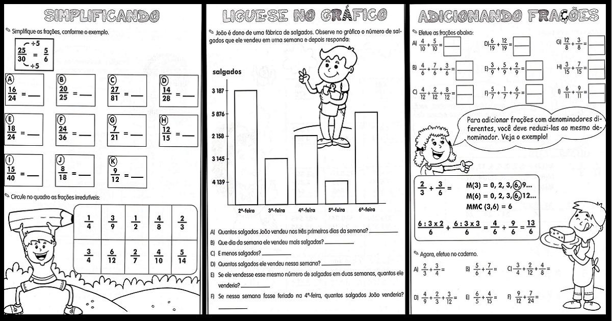 Suficiente Espaço Saber Infantil: Atividades variadas de Matemática - Ensino  FX76