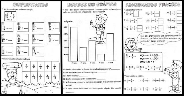Atividades variadas de Matemática indicada a alunos das séries iniciais, Ensino Fundamental e Educação Infantil.