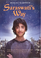 book cover of Saraswati's Way by Monika Schroeder published by Farrar Straus Giroux Books for Young Readers