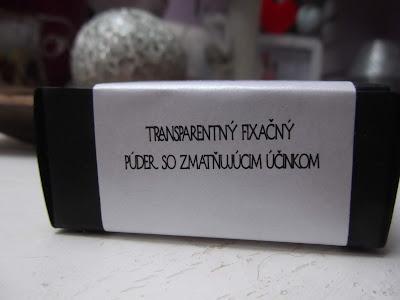 transparentný fixačný púder