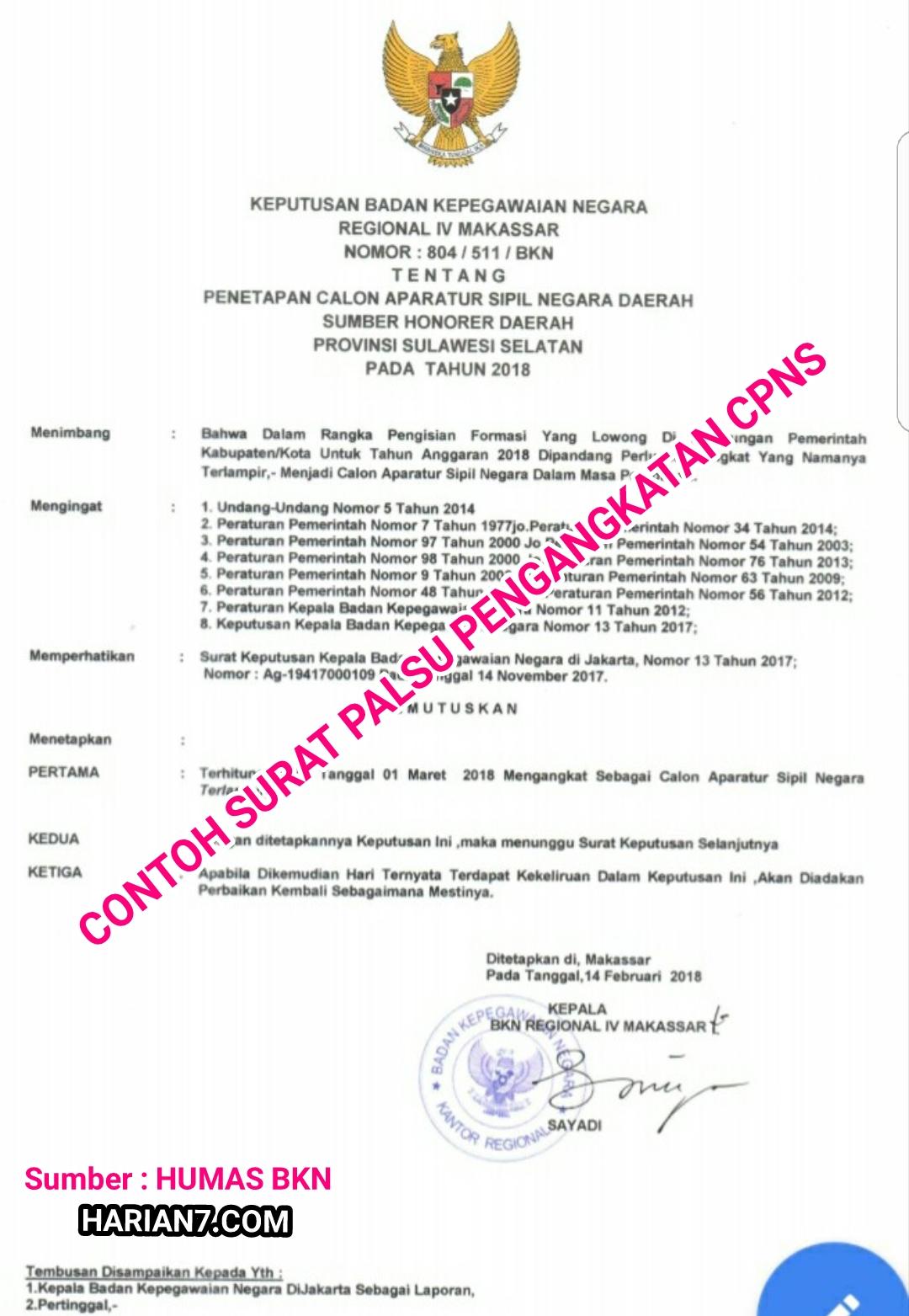 Bkn Waspada Penipuan Tidak Ada Tes Seleksi Cpns Honorer K2 Dan