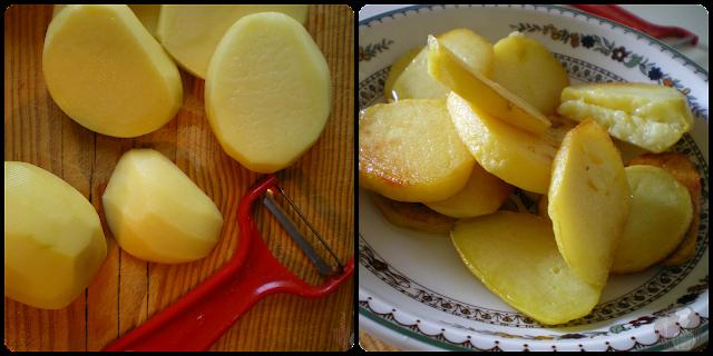 Patatas confitadas