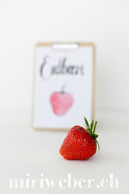 Kreativblog Schweiz, DIY Blog Schweiz, Erdbeere