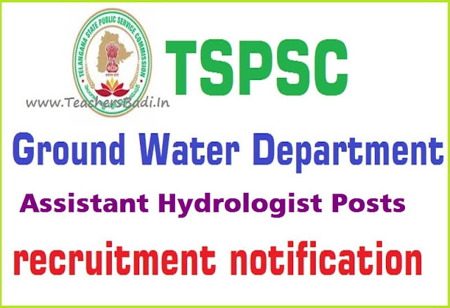 TSPSC,Assistant Hydrologists,Online application form
