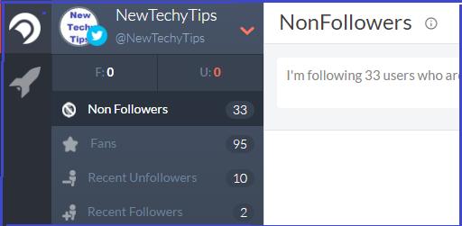 Best Free Twitter Unfollow Tool To Unfollow Non-Followers - NewTechyTips