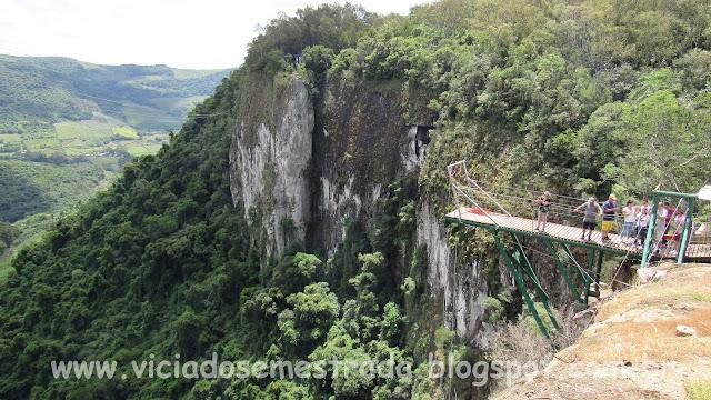 Precipício de 150 metros, Parque de Aventuras Gasper, Bento Gonçalves