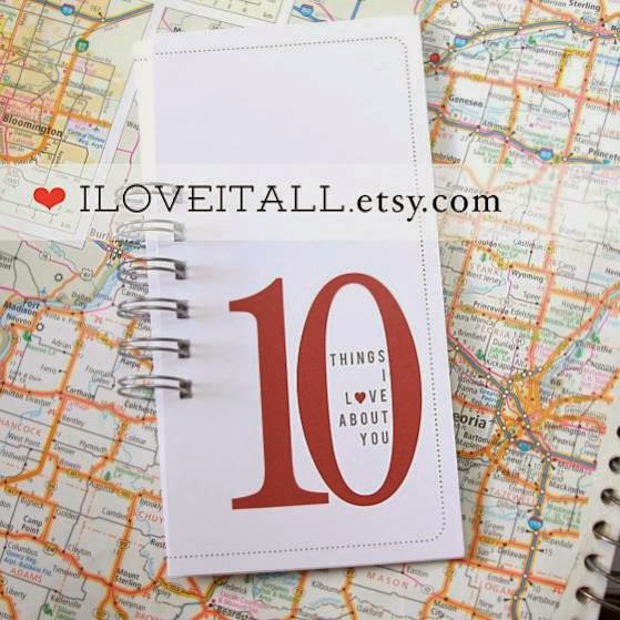 #10Things #love #Valentine's #card #10 #etsy #iloveitall