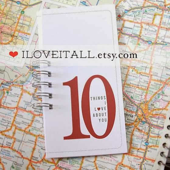 #10Things #love #Valentine's #card #10 #etsy #iloveitall