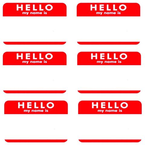 It is a photo of Hello My Name is Printable for printable labels