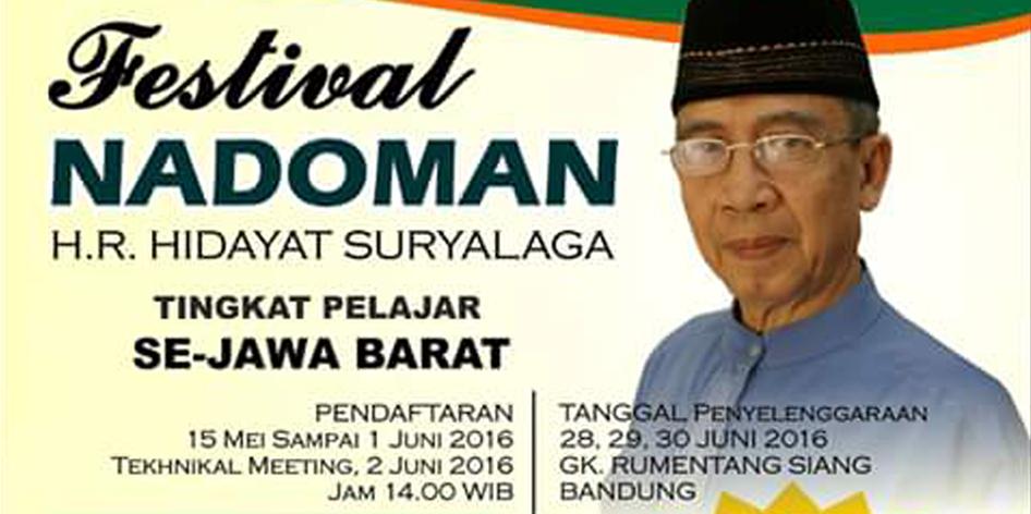 Festival Nadoman HR Hidayat Suryalaga Tingkat Pelajar SeJawa Barat