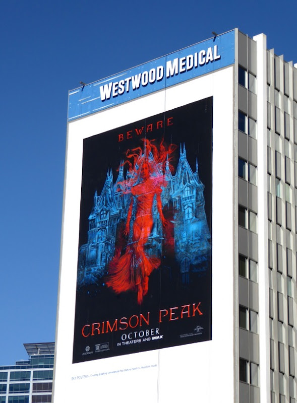 Giant Crimson Peak film billboard
