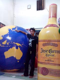 balon botol dan balon globe