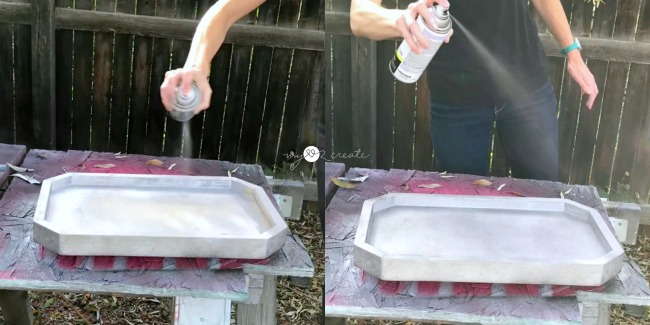 spray paint octagon tray