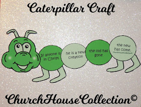 Caterpillar Craft For Sunday School