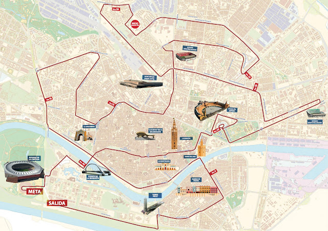 Recorrido Zurich Maratón de Sevilla 2018