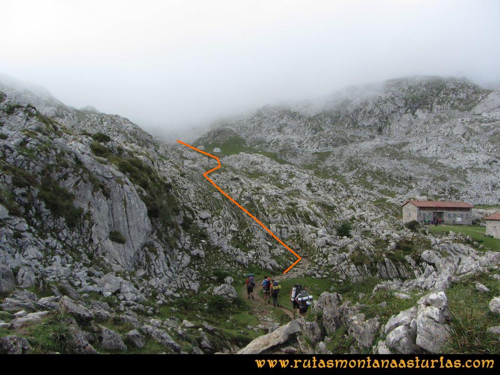 Travesía Pan de Carmen, Jou Santo, Vega de Justigallar: Inmediaciones del Refugio de Vegarredonda