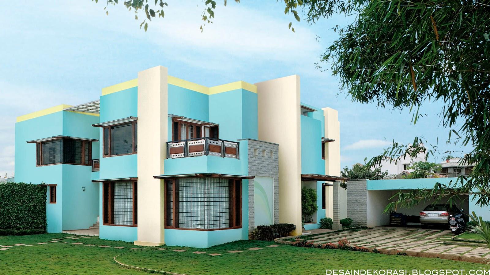 Kombinasi Warna Cat Rumah Hijau Tosca Kumpulan Desain Rumah