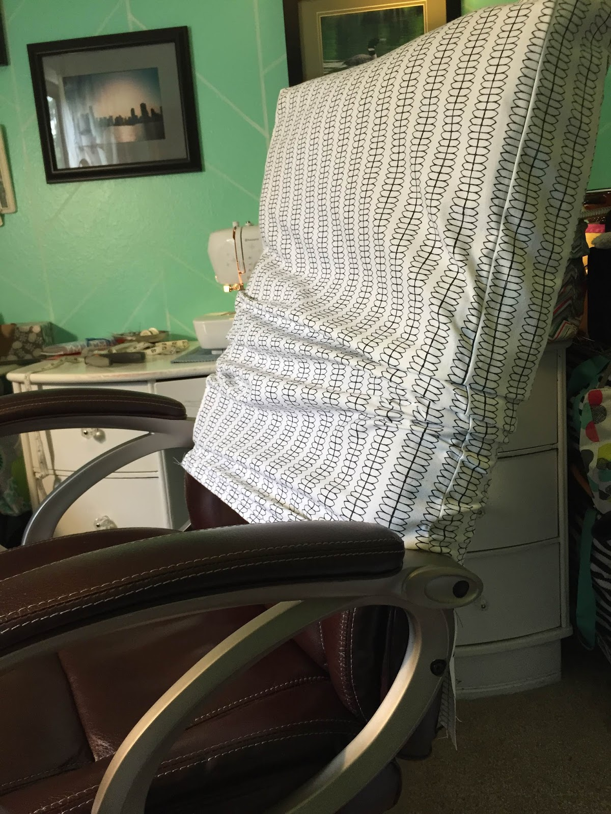 Chair Covers Office Seats Kitchen Chairs On Wheels The Dabbling Crafter Diy Sunday Cover
