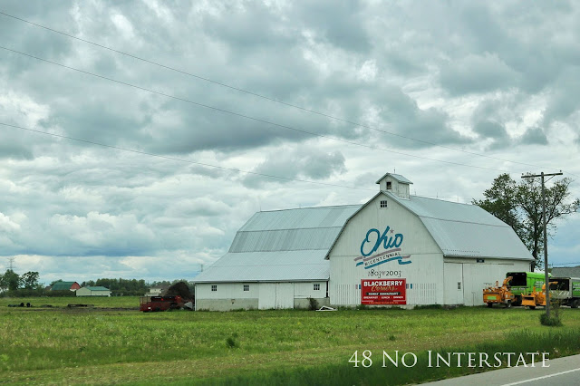 48 No Interstate back roads cross country coast-to-coast road trip Ohio bicentennial barn farmland