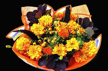 dia de los muertos flower bouquet