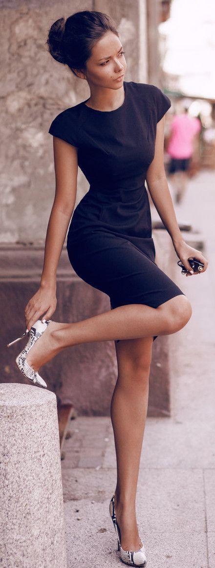 Black Dress And High Heel