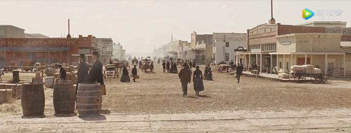 米国1800年代の町