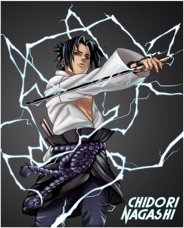 Uchiha Sasuke,chidori Nagashi (Part 280