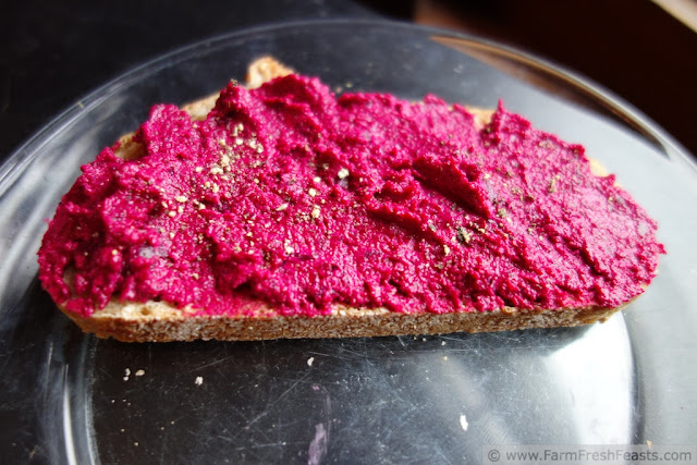 http://www.farmfreshfeasts.com/2012/10/beet-goat-cheese-spread.html