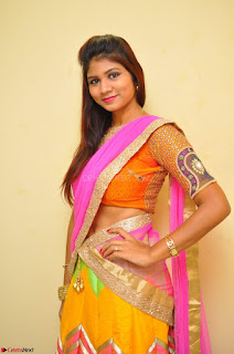 Lucky Sree in dasling Pink Saree and Orange Choli DSC 0353 1600x1063.JPG
