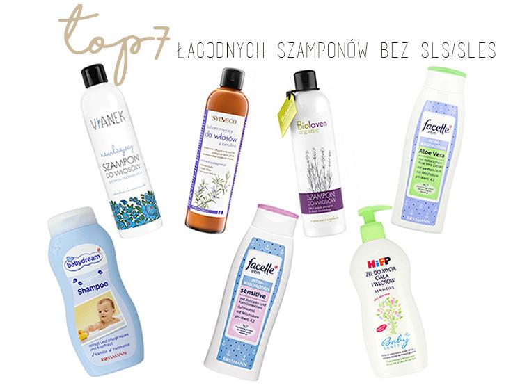 Najlepsze delikatne, łagodne szampony bez SLS