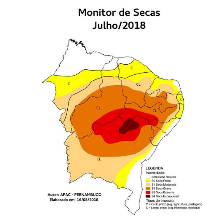 Grau de severidade da seca se agrava no Ceará, aponta Monitor das Secas