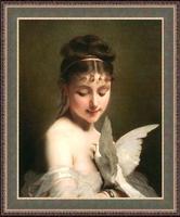 Момиче с гълъб