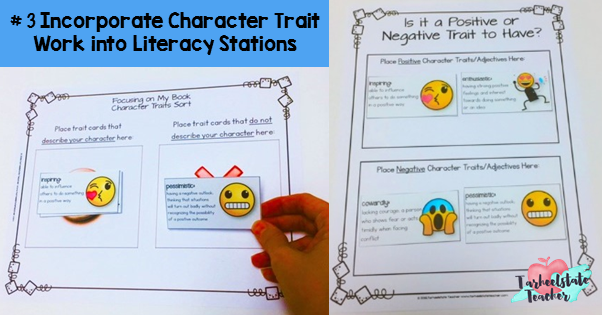 describing characters in books lessons and activities