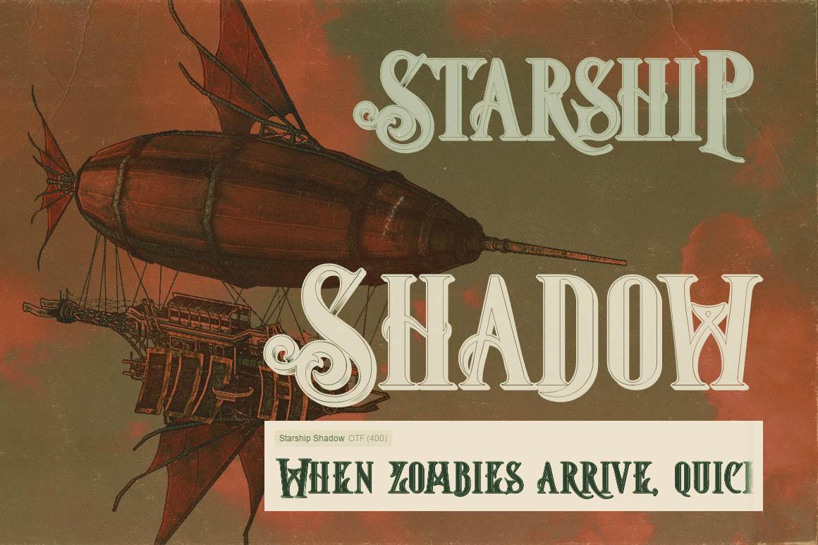 Download Font Terbaru 2016 - Starship Shadow Font