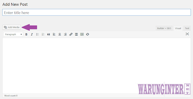 Hak Akses Kontributor Pada Wordpress Bisa upload Media