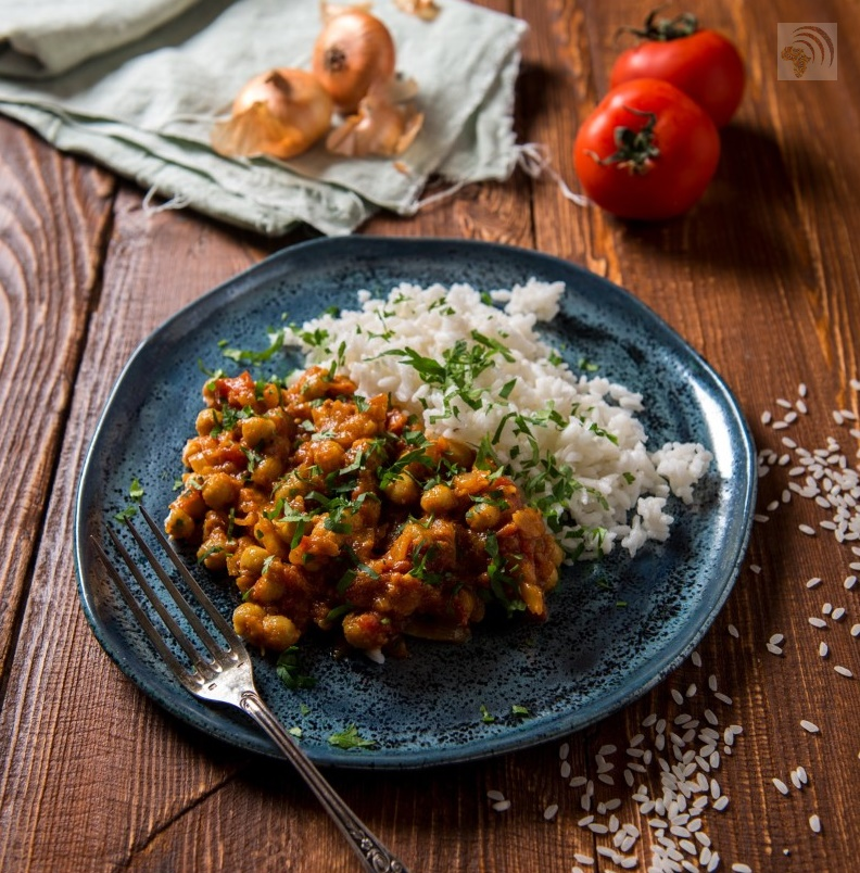 Sizzling Curry Powder Chickpeas