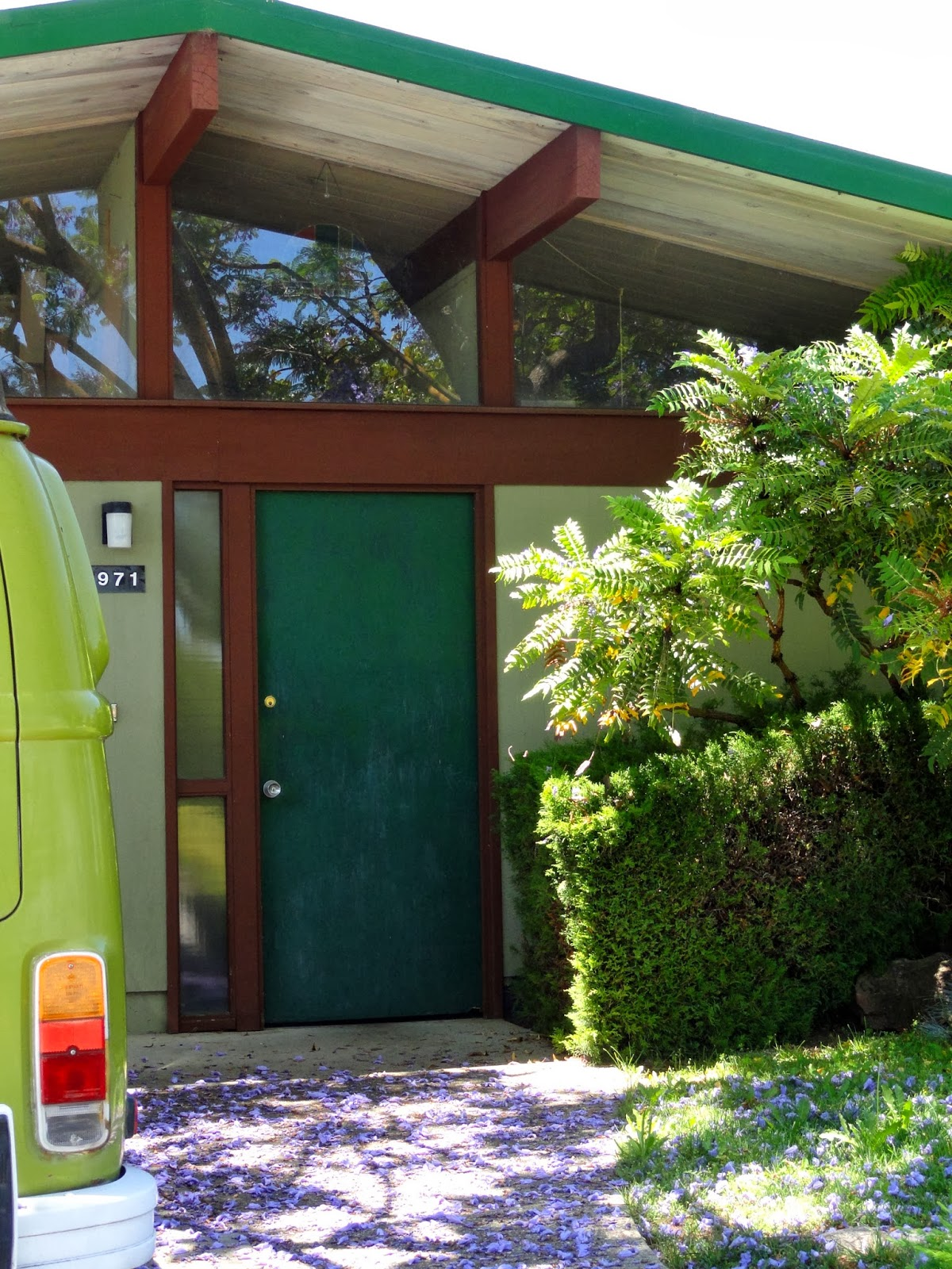 Colors For Front Doors: Mad For Mid-Century: Blue Mid-Century Modern Eichler Doors
