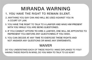 Miranda Rights Must Be Read when Suspect Is In Custody
