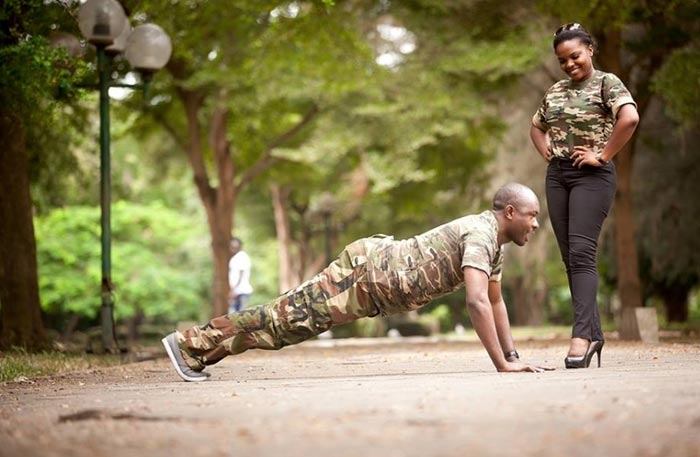 Aww! Check Out This Couple's Military-styled Pre-wedding Photo Shoot