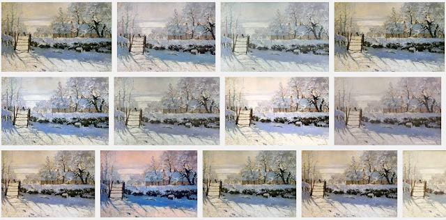 Tableau la Pie de Claude Monet