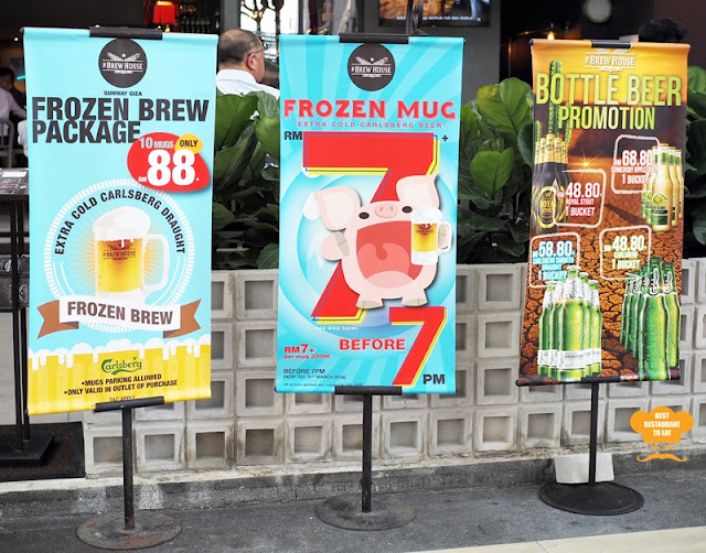 The Brew House RM7 Cheap Beer Promotion