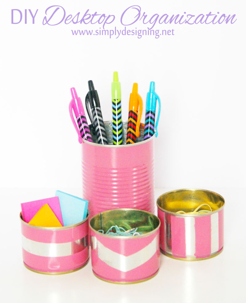 $1 DIY Desktop Accessories | for less then $1 you can DIY your own cute desktop organization | #desk #office #diy