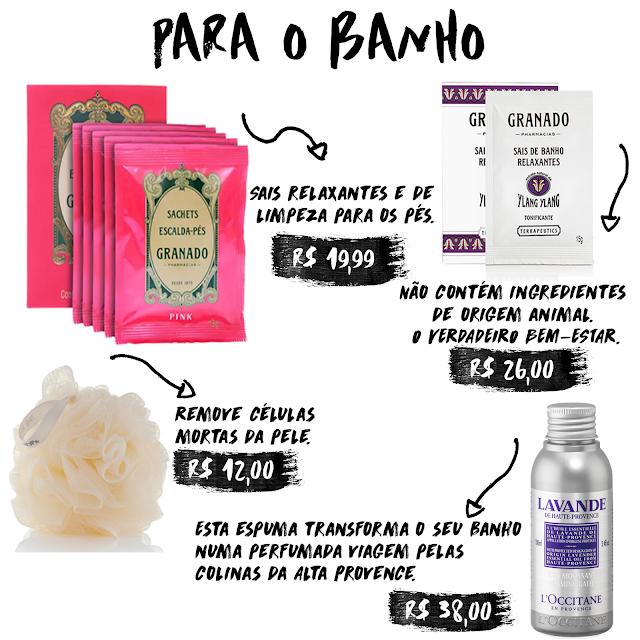 Spa em casa com produtos de até R$50,00 reais