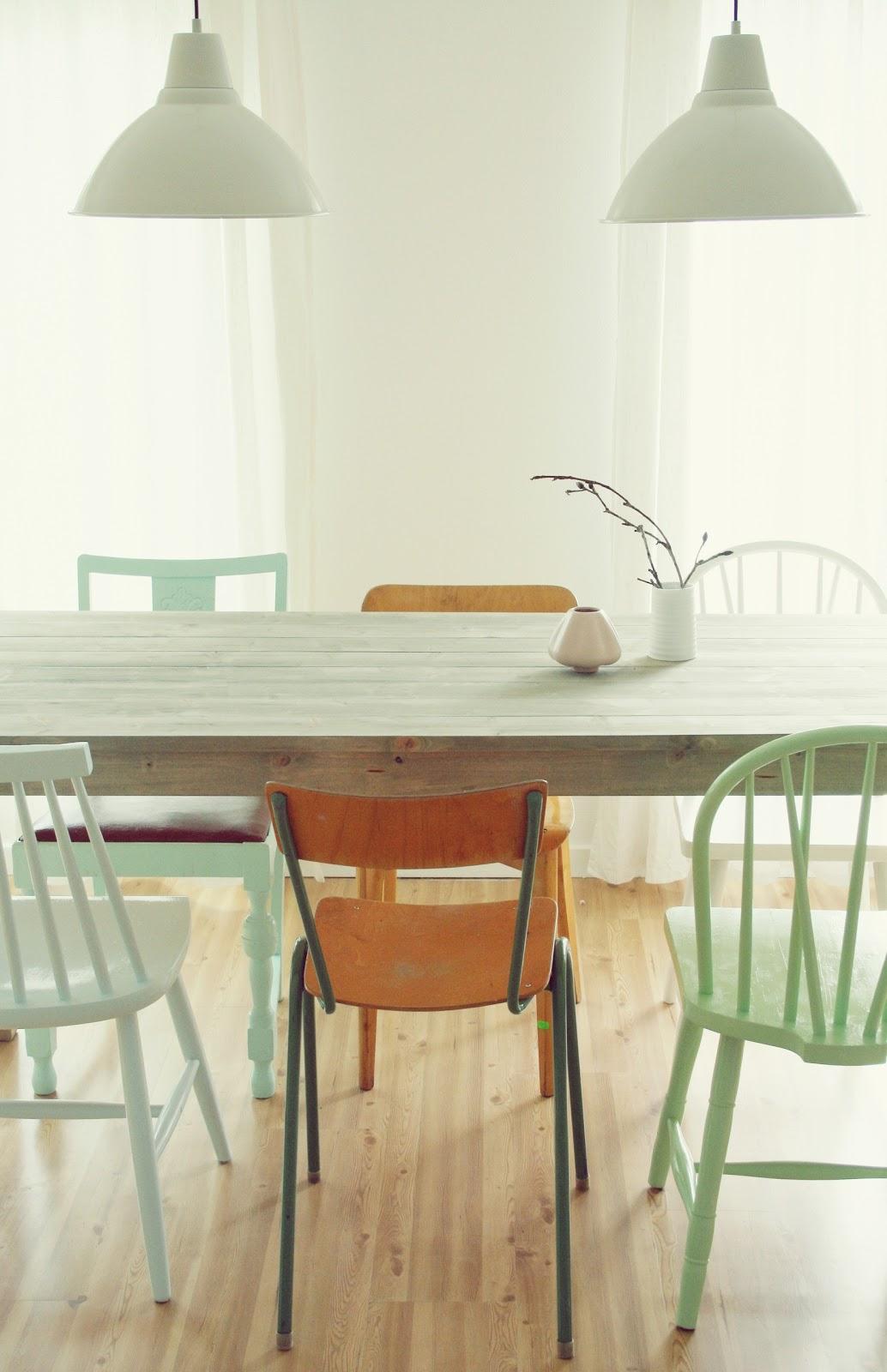 Mismatched Dining Chairs Belmont Barber Chair For Sale Møbelpøbel Diy Spisebord
