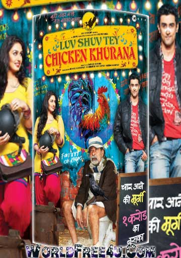 Poster Of Hindi Movie Luv Shuv Tey Chicken Khurana (2012) Free Download Full New Hindi Movie Watch Online At worldfree4u.com