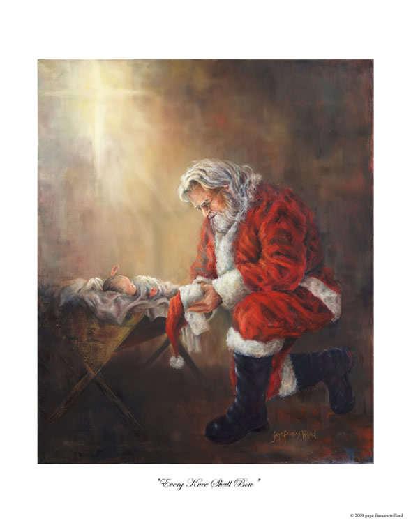 coloring picture of santa kneeling at the manger santa kneeling at manager