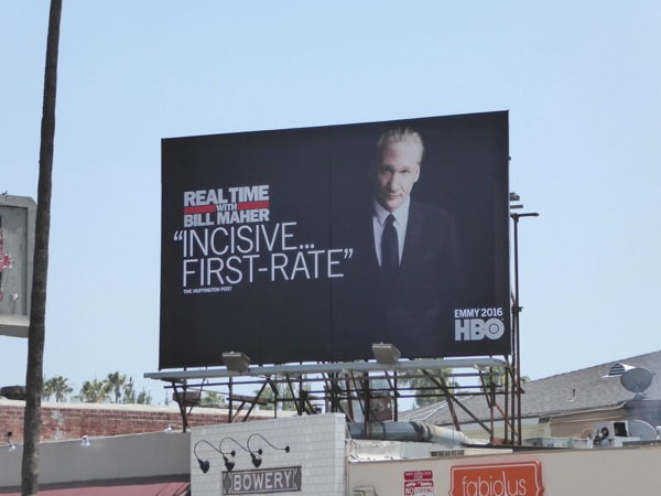 Real Time Bill Maher 14 HBO Emmy billboard